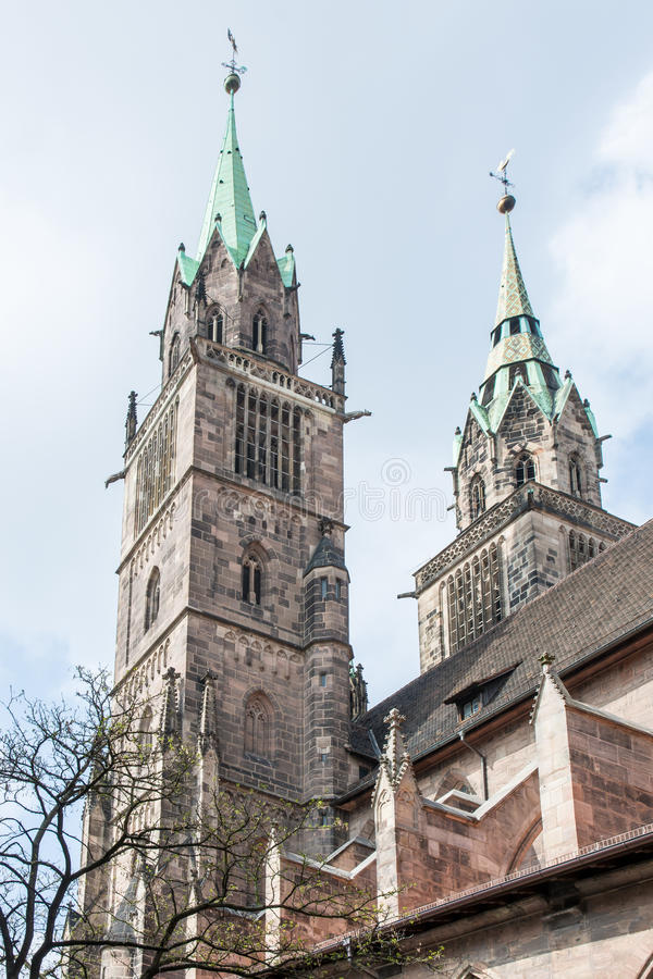 Free Towers Of St. Lorenz Church In Nuremberg Stock Image - 42304121