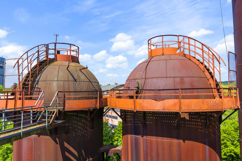 Towers Of Old Iron Works Monuments Stock Photography