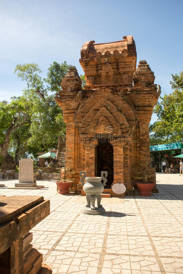the towers of Po Nagar in Vietnam. Towers were built by the Cham civilization stock photography