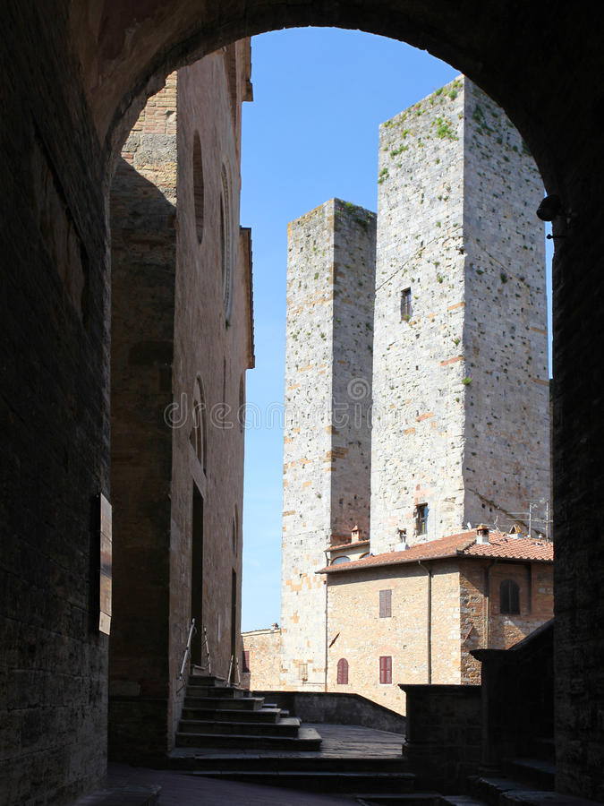 Download Towers of San Gimignano stock photo. Image of ancient - 27667754