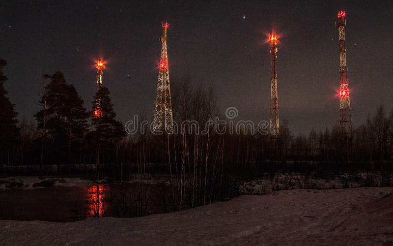 Towers royalty free stock photography