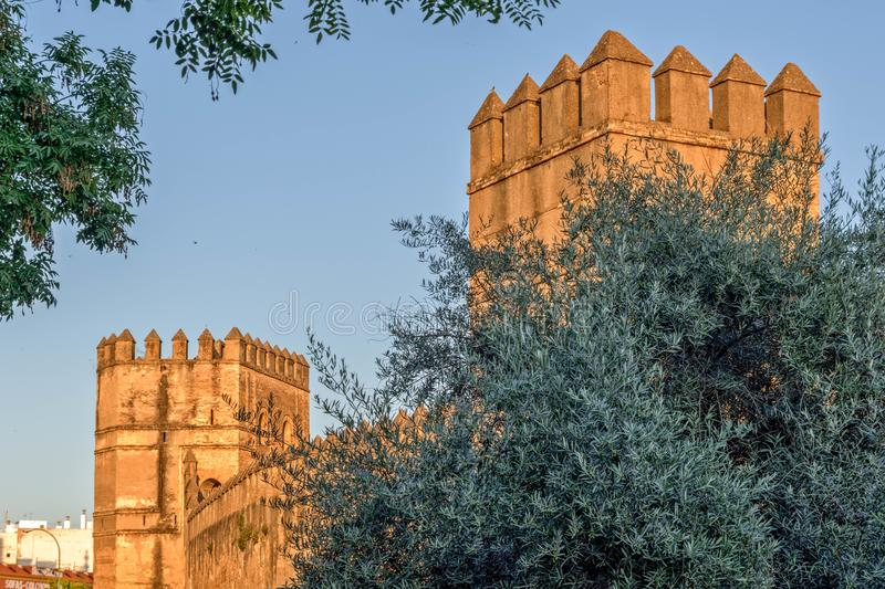 Towers and turrets royalty free stock image