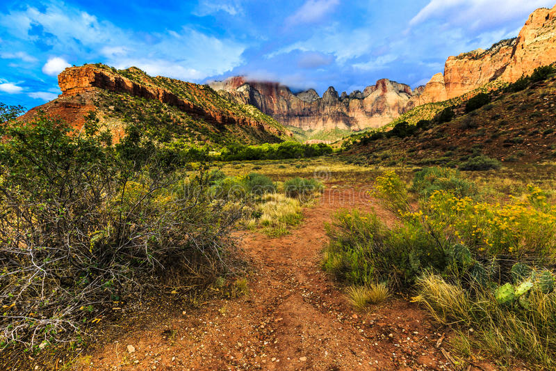Towers of the Virgin at Zion royalty free stock image