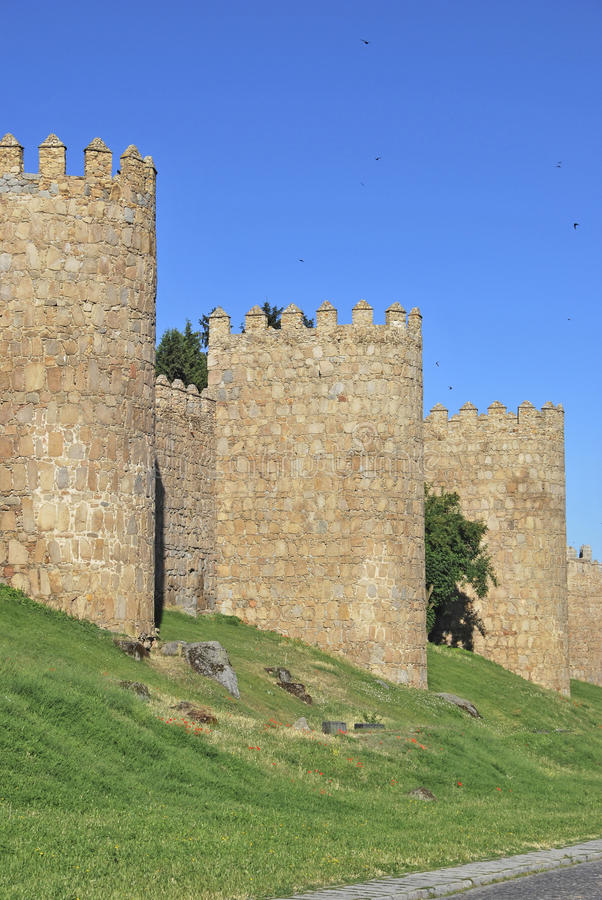 Towers Of The Wall Of Avila Royalty Free Stock Images