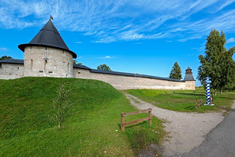 Holy Assumption Pskovo-Pecherskiy mens Monastery. Pechory, Pskov region, Russia. royalty free stock photos