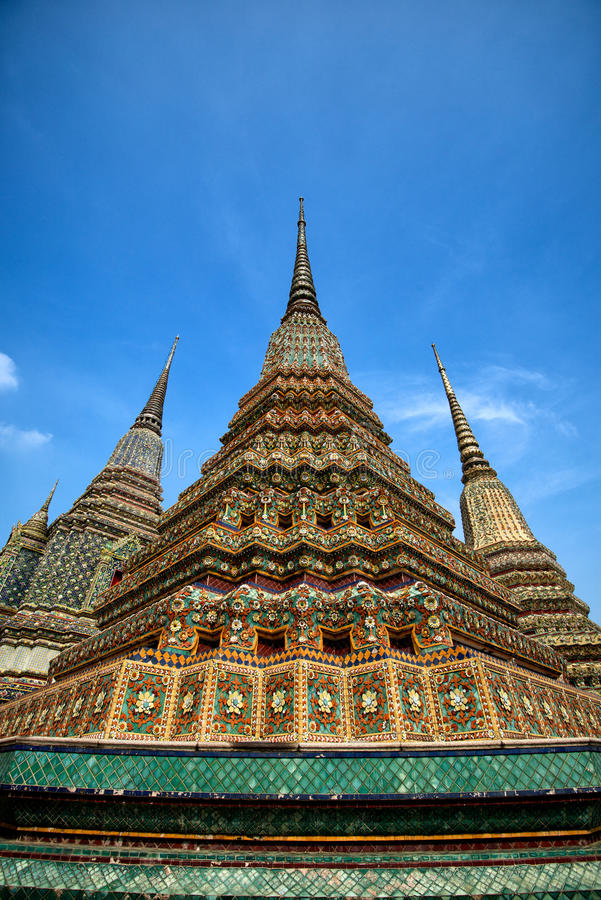 Towers of Wat Pho stock images