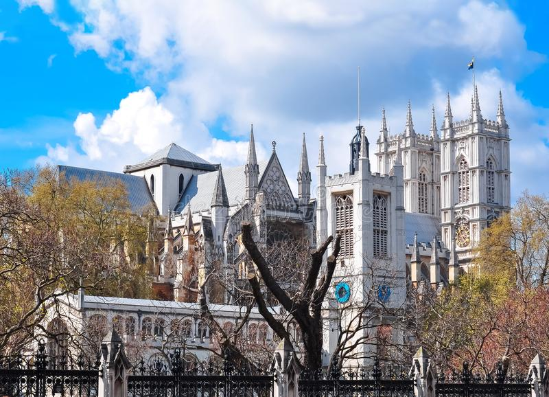 Towers of Westminster Abbey, London, UK stock photography