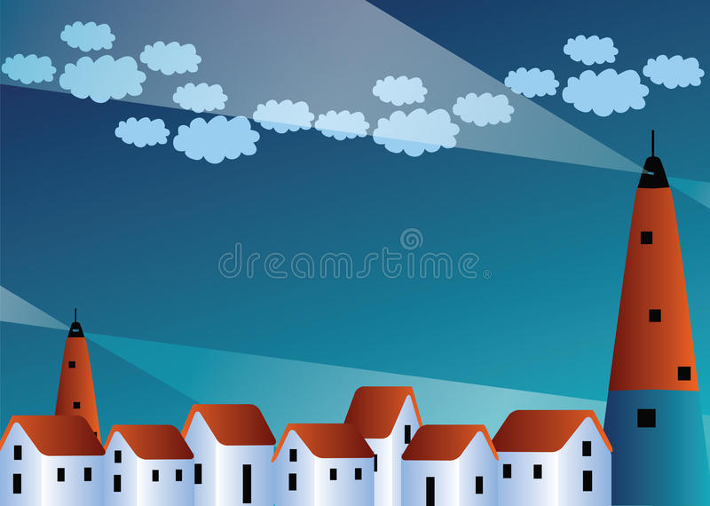 Download Town stock vector. Illustration of scene, house, village - 12993514