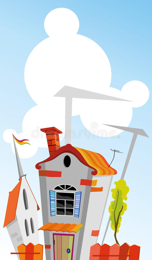 town vector illustration