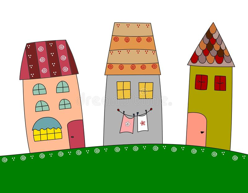 town stock illustrationer