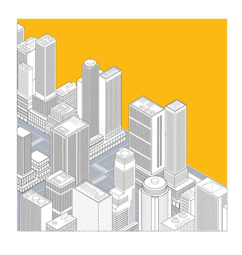 town vektor illustrationer