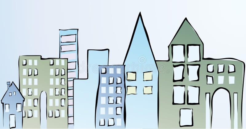 Download Town stock vector. Illustration of city, cartoon, door - 23240251
