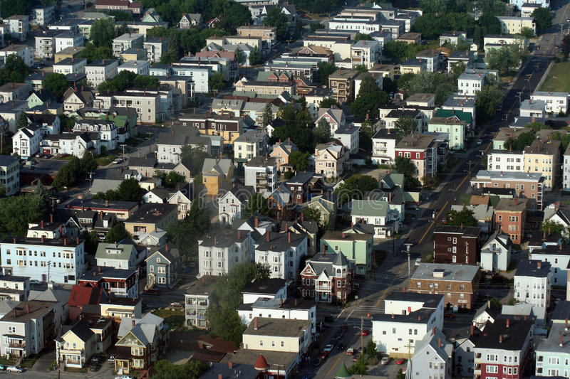 Download Town stock photo. Image of streets, houses, auburn, roofs - 599742