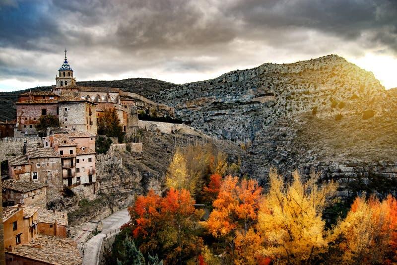The town of Albarracin stock image