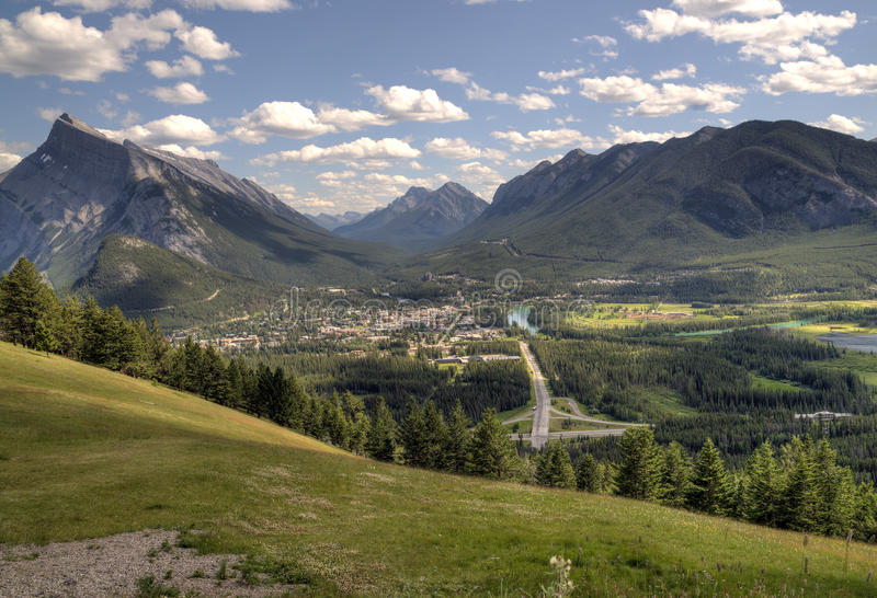 Town of banff stock photo