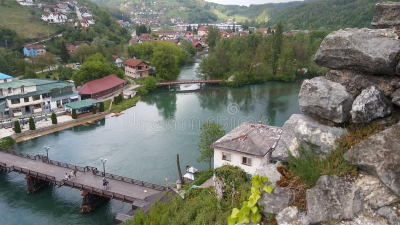 Town of Bosanska krupa, Bosnia and Herzegovina royalty free stock photo