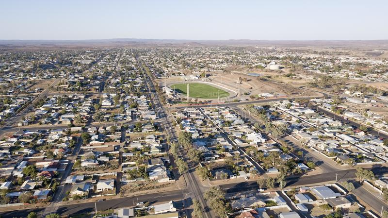 Town of Broken Hill,. Aerial view of the mining town of Broken Hill, NSW royalty free stock image