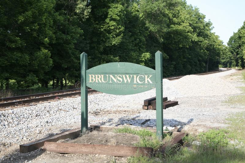 Town of Brunswick Tennessee. Brunswick is an unincorporated community in Shelby County, Tennessee, United States. Brunswick is 7.5 miles 12.1 km northeast of the royalty free stock photo