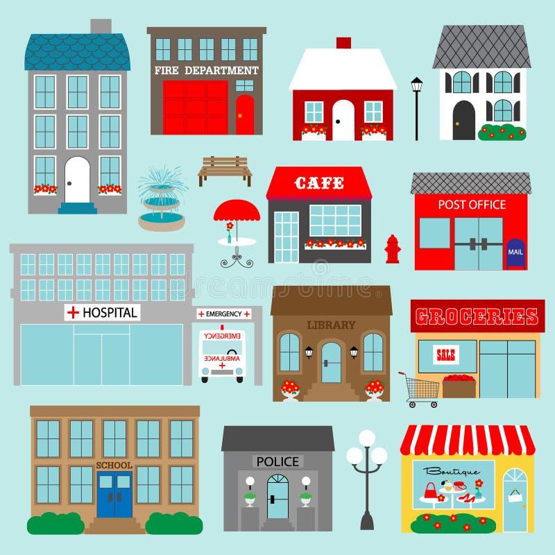 town buildings clipart stock illustration illustration of light rh dreamstime com clipart of buildings free clipart of buildings free