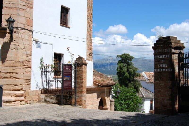 Town buildings, Ronda, Spain. stock image