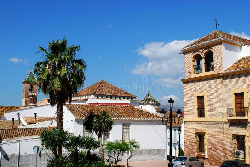 Town buildings, Velez Malaga. royalty free stock photo