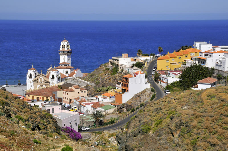 Town of Candelaria at Tenerife royalty free stock photography