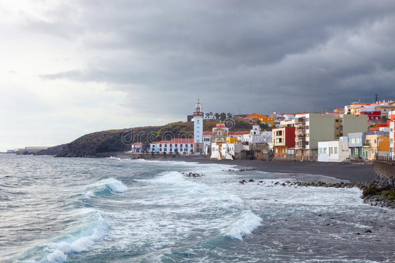 The town of Candelaria,Tenerife, Canary Islands, Spain royalty free stock image
