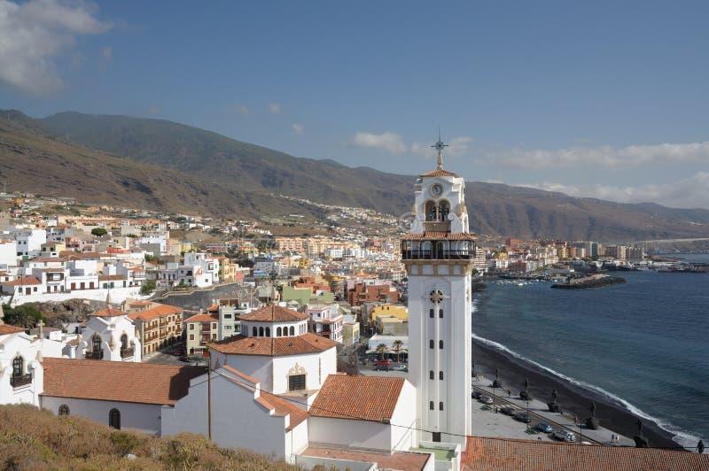 Town Candelaria, Tenerife Spain stock photo