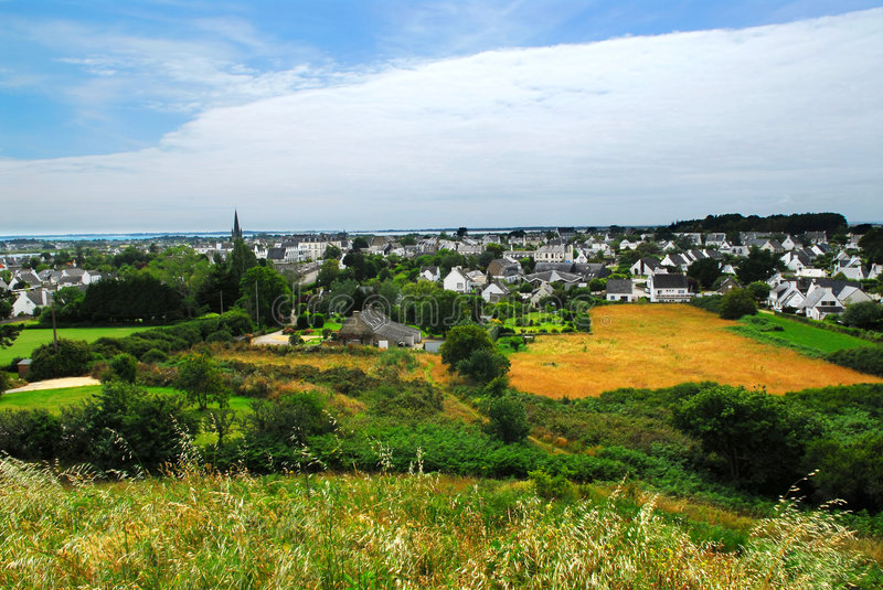 Download Town of Carnac in Brittany stock photo. Image of landscape - 3803122