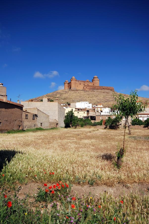 Download Town And Castle, La Calahorra, Andalusia, Spain. Stock Image - Image: 28953437