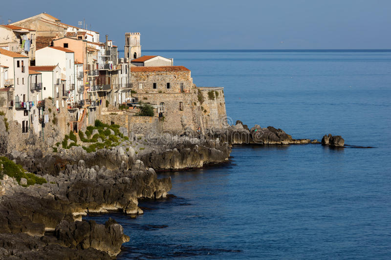 Town of Cefalu, Sicily, Italy royalty free stock images