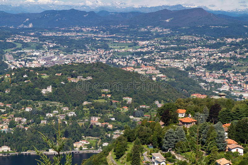 The town Cernobbio, italian landscape stock image