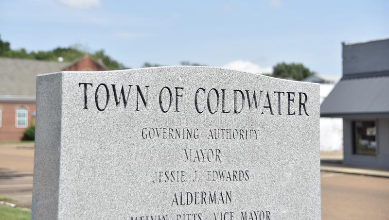 Town of Coldwater Mississippi Governing Authority royalty free stock photo
