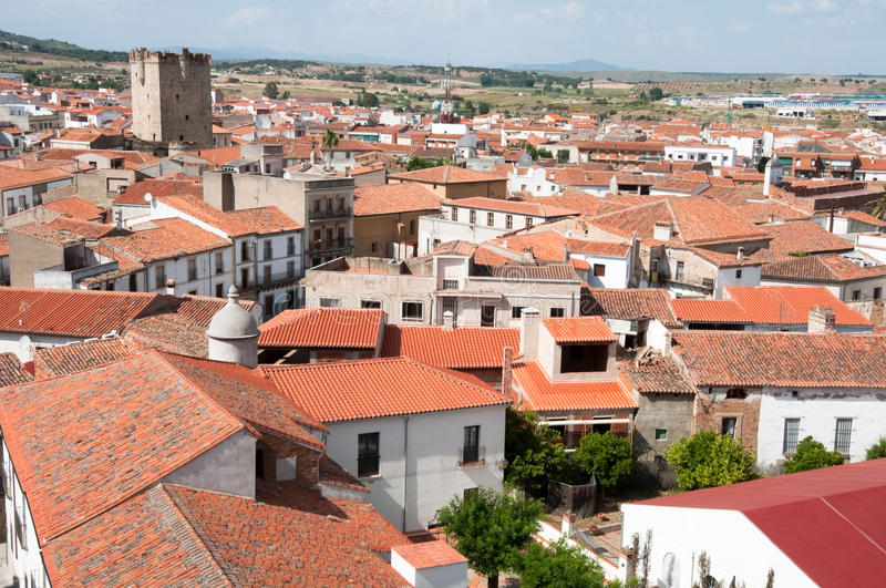 Town of Coria, Extremadura, Spain. Town of Coria, Extremadura (Spain stock photo