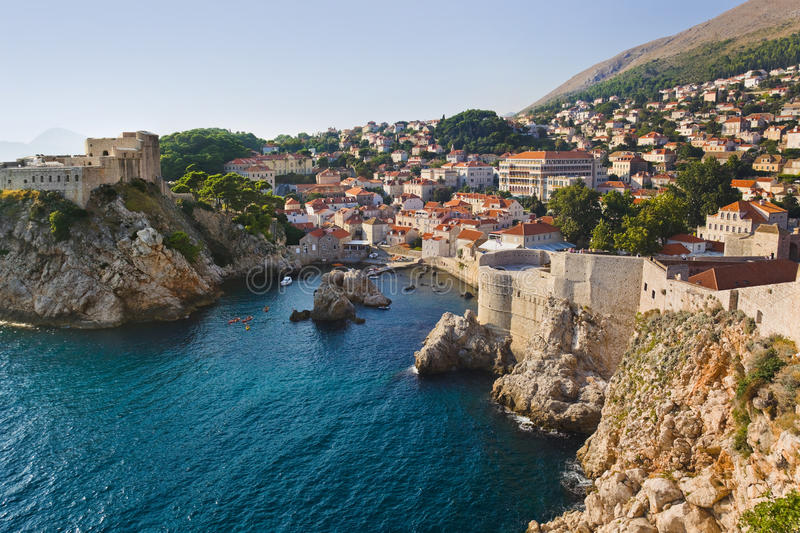 Town Dubrovnik in Croatia. Architecture background stock image