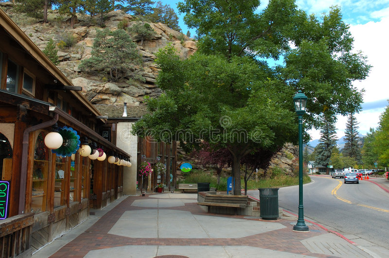 Town of Estes Park. The Town of Estes Park is a Statutory Town located in Larimer County, Colorado (USA) on the Big Thompson River. The population was 5, 413 at royalty free stock photos