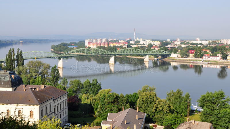 Town Esztergom,Hungary. Esztergom was the capital of Hungary from the 10th till the mid-13th century when King Béla IV of Hungary moved the royal seat to Buda stock photography