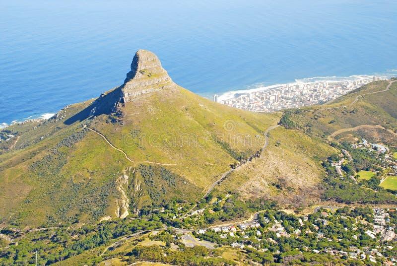 town för berg s för lion för africa uddhuvud södra royaltyfria foton