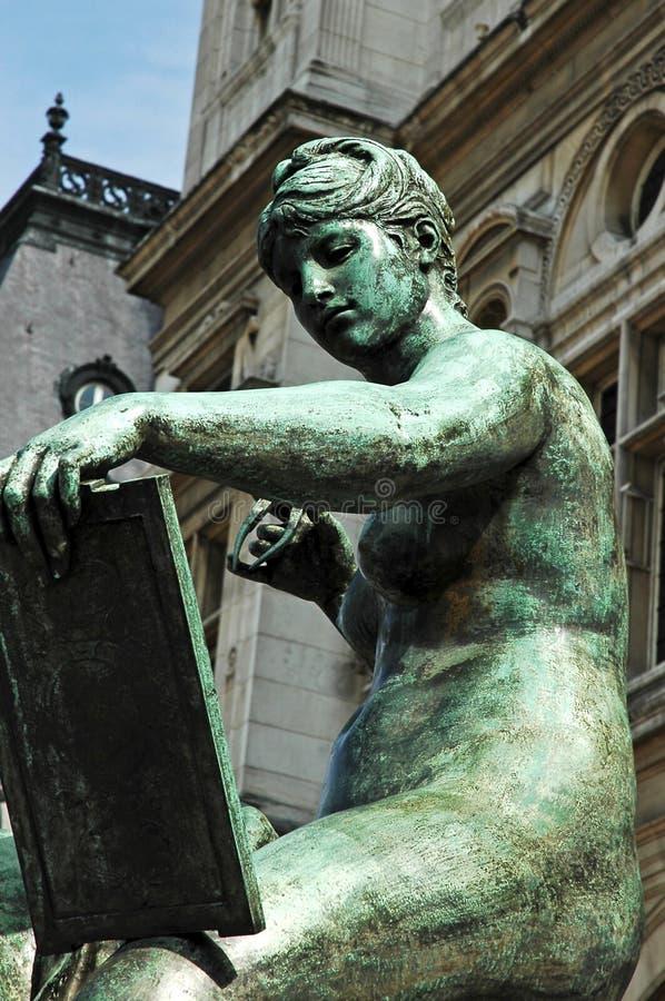 town för france korridorparis skulptur royaltyfri foto