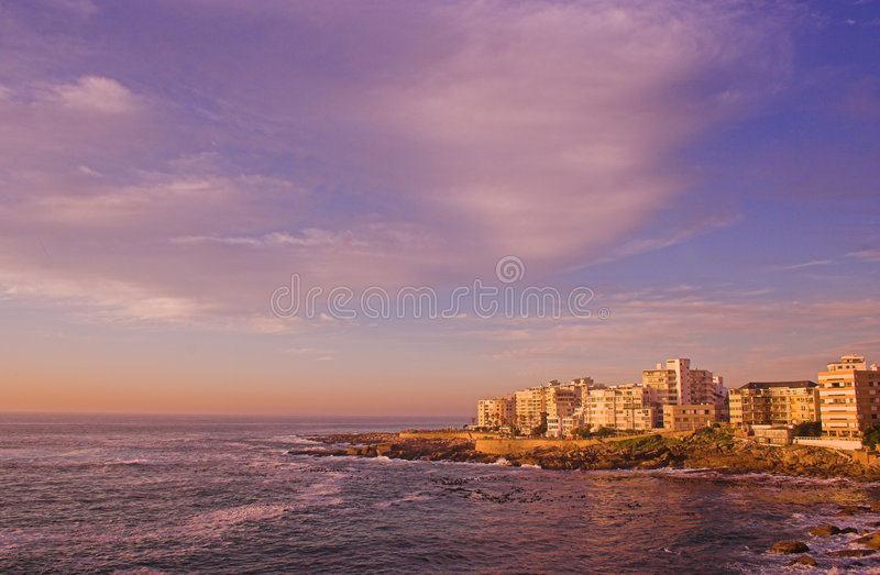 town för hav för africa uddpunkt södra royaltyfri foto