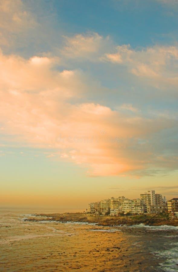 town för hav för africa uddpunkt södra arkivbilder