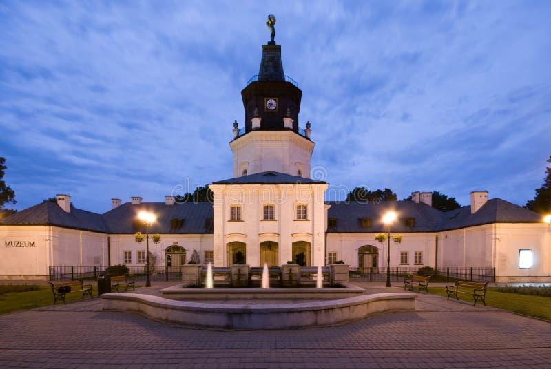 town för korridorpoland siedlce fotografering för bildbyråer