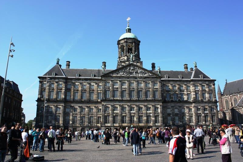 town för kunglig person för amsterdam korridorslott royaltyfria foton