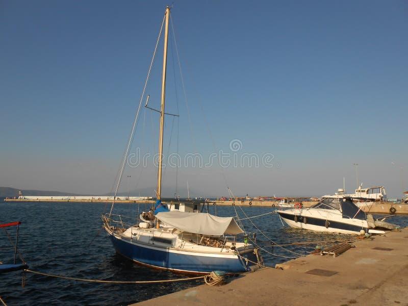 town för port för apuliabari fartyg royaltyfri foto