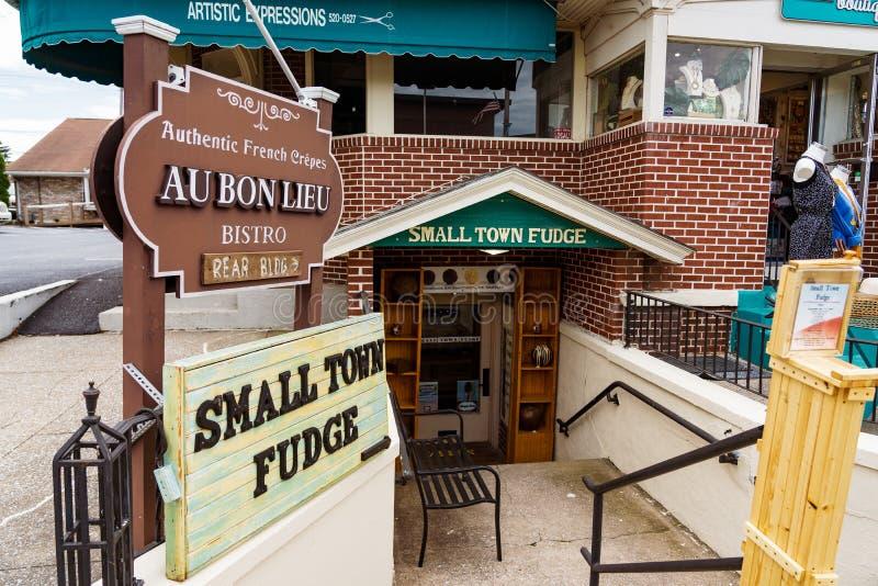 Town Fudge Shop stock foto