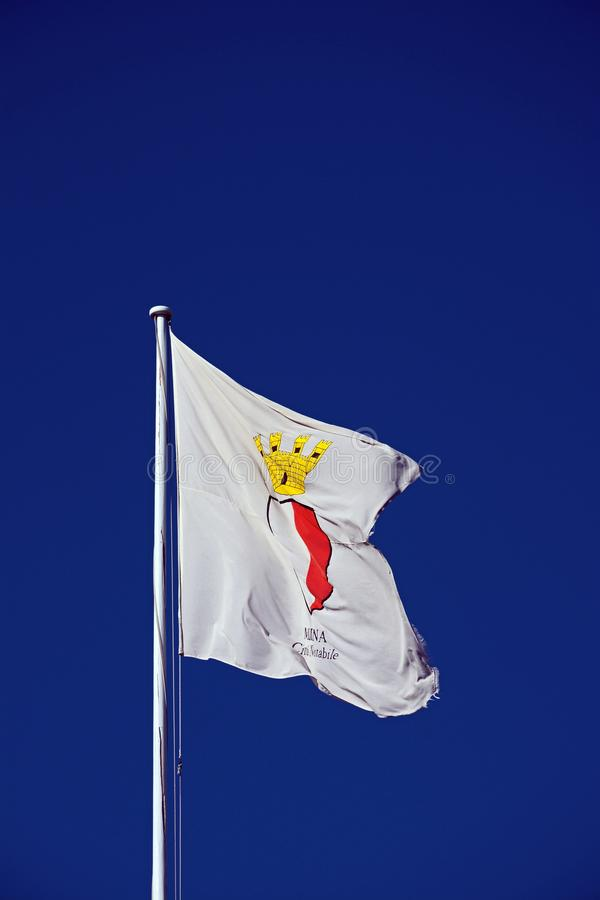 Town Gate flag, Mdina. stock images
