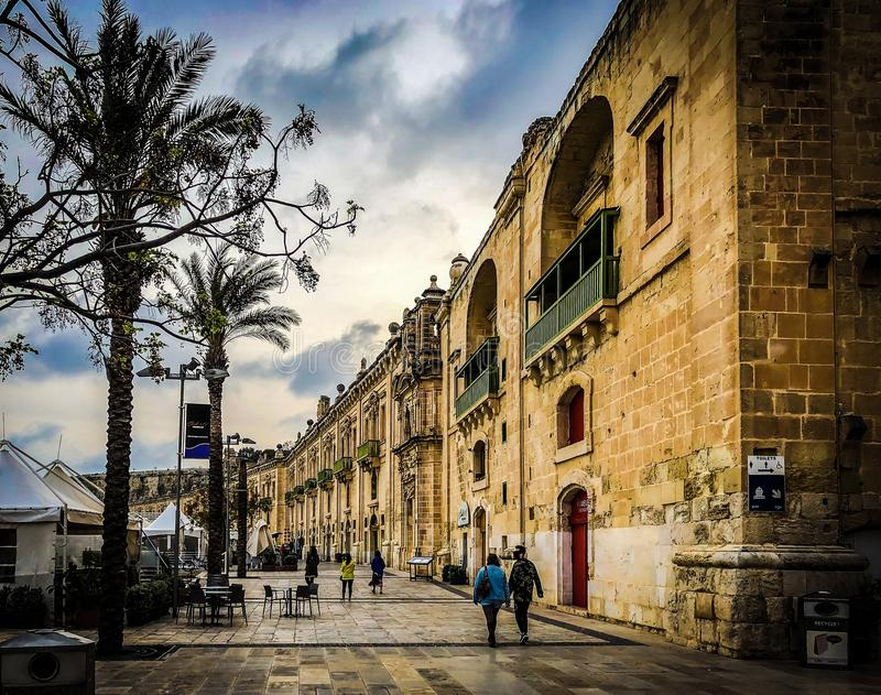 The countryside of Malta stock images