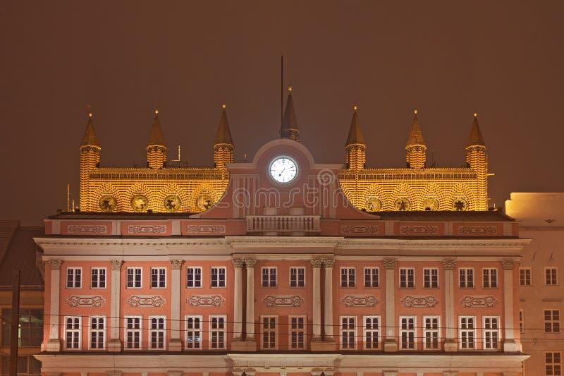 Download Town hall stock image. Image of clock, pomerania, landmark - 22003967