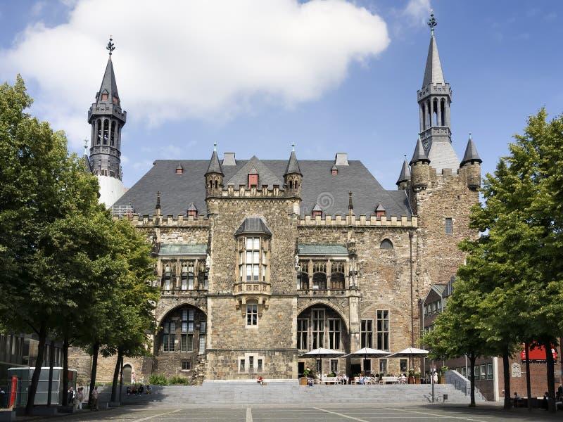 Town hall Aachen stock image