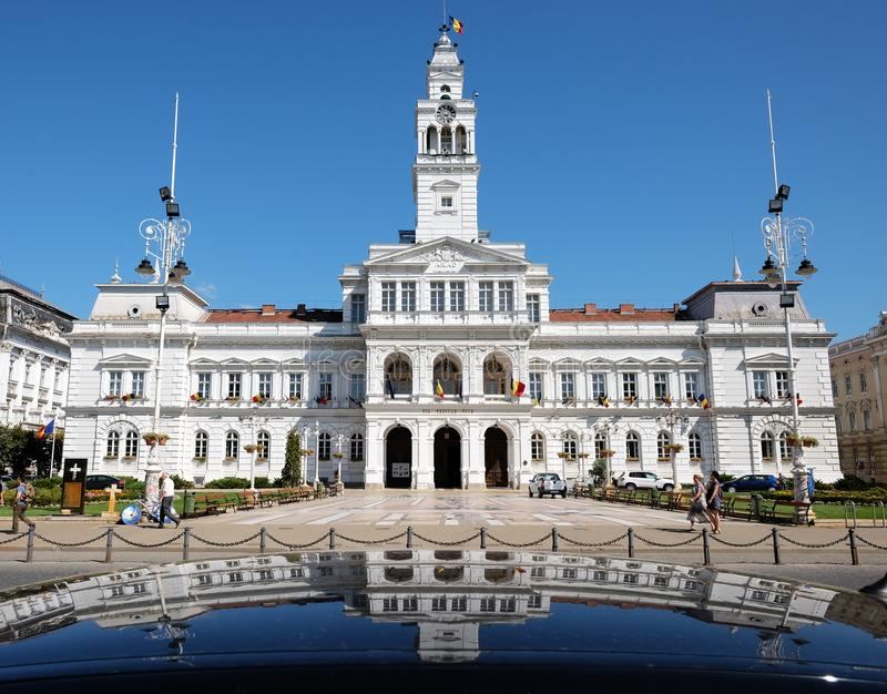 Town Hall In Arad, Romania stock photography